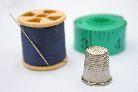 Items from a basic home sewing kit