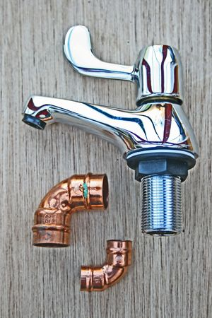 Tap and copper joints.