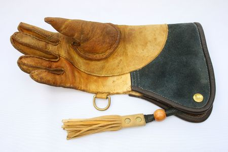 Falconry glove with tassel