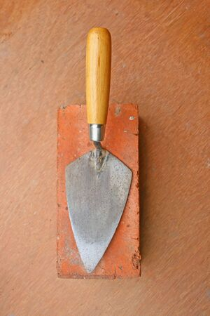 Bricklayers trowel. Stock Photo - 7072621