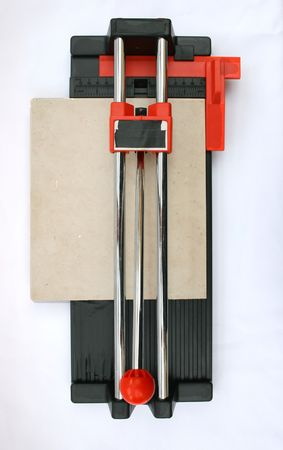Ceramic tile cutter with tile. Stock Photo - 7140135