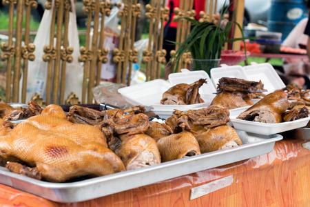 Roasted Chickens / Ducks at Outdoor Street Vendor in Phuket, Thailand