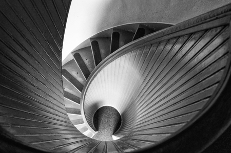 Spiral Staircase in Old Lighthouse Standard-Bild