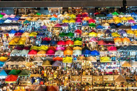 Bangkok Night Market - Ratchada Rot Fai Train Night Market in Thailand
