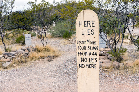 Boothill Graveyard in Tombstone, Arizona, Wild West Cemetery
