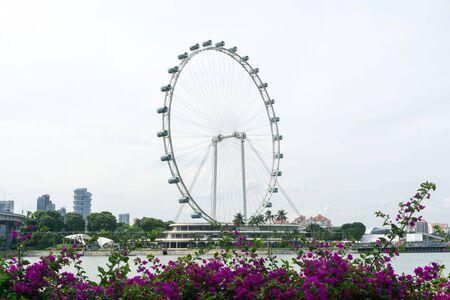 The Singapore Flyer Ferris Wheel in Singapore City