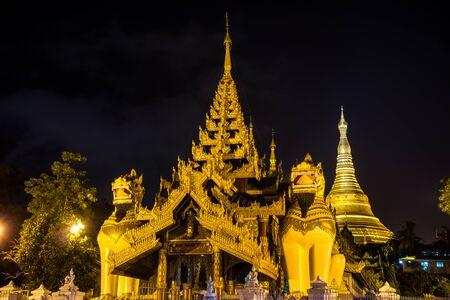 Shwedagon Pagoda at night in Yangon, Myanmar