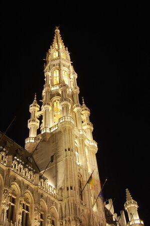 bruxelles: Grand place, Bruxelles, Belgium, night shot.