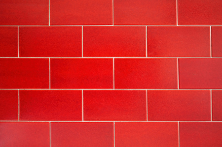 brigh: Texture of red tiles with a brigh-like pattern.