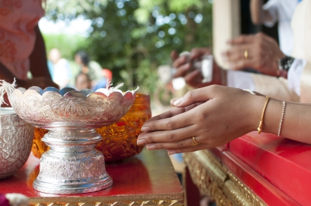 Thai tradition marriage photo