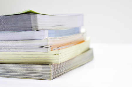 Book Stack Group Educate Paper Stock Photo