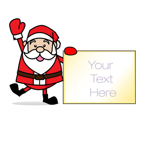 greybeard: Babbo Natale merry christmas Vettoriali