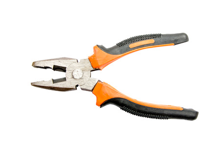 Isolate Orange Pliers tools Stock Photo