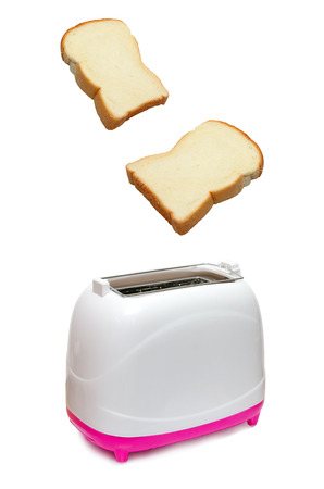 Isolated Bread and Toaster