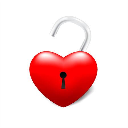 Isolated grossy unlocked heart Illustration