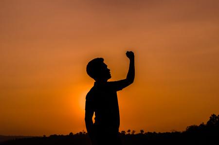 silhouette Success man, powerful man photo