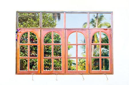 Window frame with tree reflect Stock Photo - 25742505