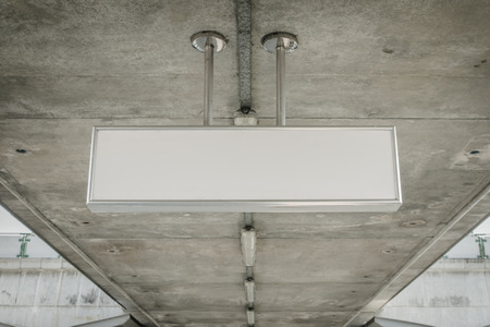 cieling: Blank cieling sign, direction sign
