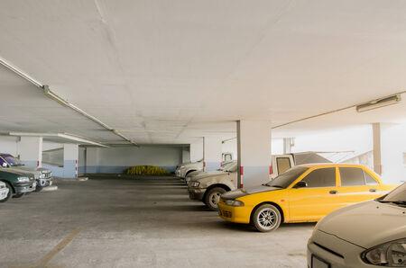 Indoor car park old car