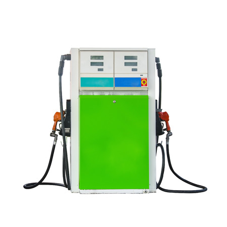 pumper: Isolated gas pumper supply on white background