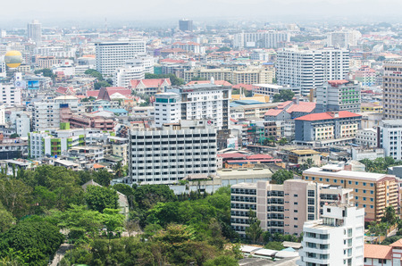 arial: Arial View of Pataya Thailand, cityscape