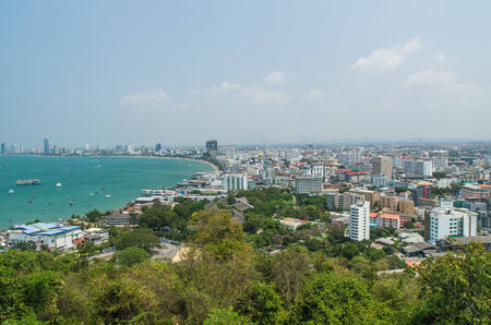 arial view: Arial View of Pataya Thailand, cityscape