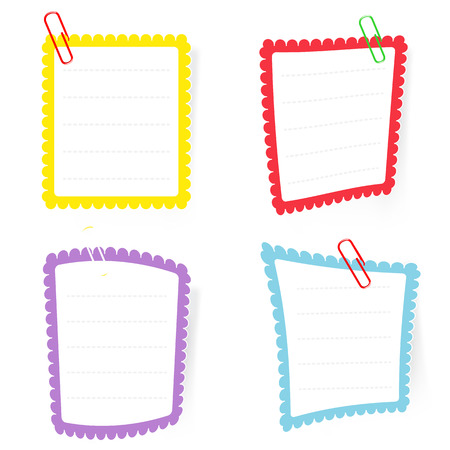 text box with paper clip EPS10