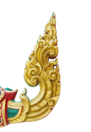 Isolated thai traditional gold stucco photo