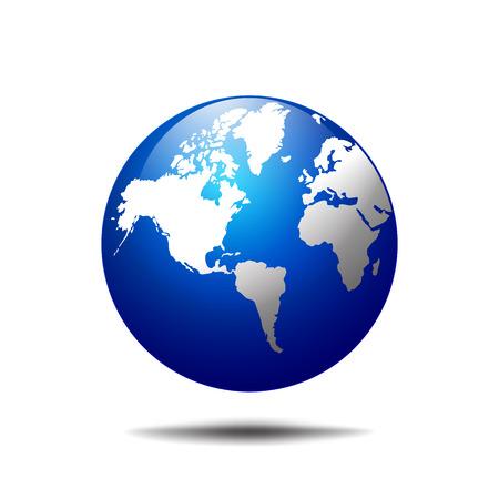 Vector wereld bol icoon van de wereld Stock Illustratie