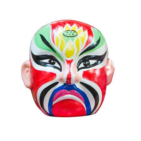 Japan style mask on isolated white background photo
