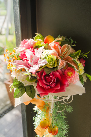 flowers bouquet in small corner