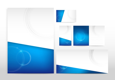 Blue and white stationery Vector