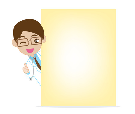 blank note: Smile doctor with blank note paper