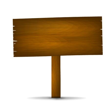 Wooden board sign  Illustration