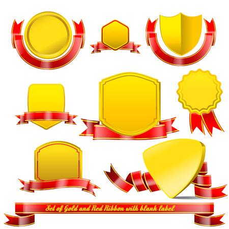 bage: set of Tag bage and ribbon