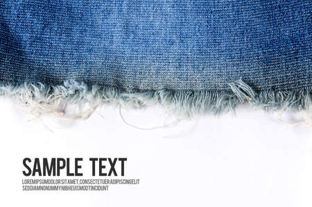 Jeans background texture with white blank space