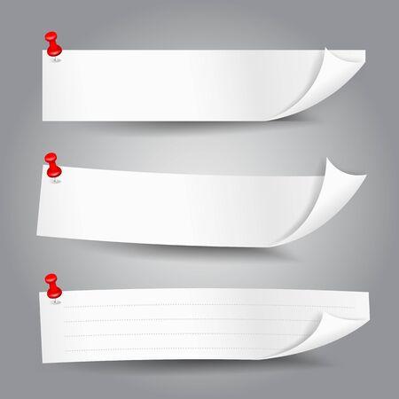 papier banner: Leere Vorlage Papier Banner mit Farb Ecke Vektor-Illustration