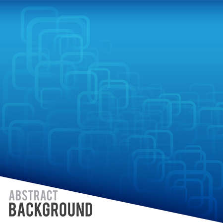 round corner: Abstract blue and round corner rectangle background vector illustration