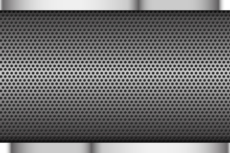 grey background texture: Chrome black and grey background texture Illustration