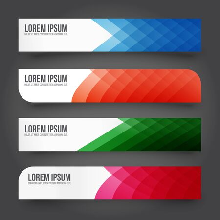 paper banner: Colorful Blank template paper banner vector illustration Illustration