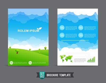 brochure design template eco concept, Fyer template vector illustration Vector