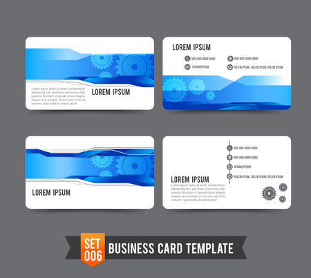 Gear technology concept  business card template vector illustration Illustration