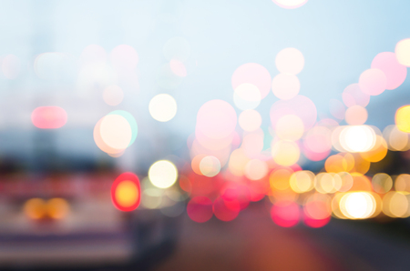 technic: Abstract multi exposure technic Transport traffic bokeh on the road layered merge