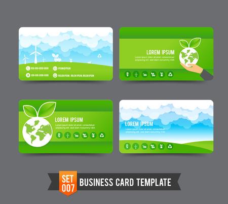 Eco concept business card template illustrazione vettoriale Archivio Fotografico - 37737389