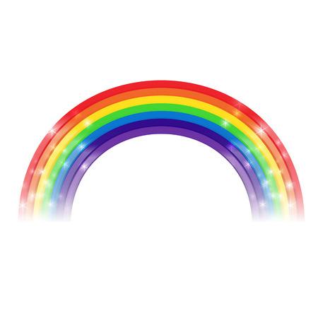 Rainbow cartoon element for decoration vector illustration