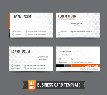 Clear and minimal design business card template vector illustration