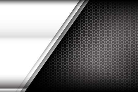 stainless steel: Metallic steel and honeycomb element background texture vector illustration