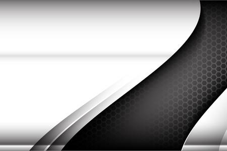 fibra de carbono: Acero metalizado y panal elemento de ilustración de fondo textura vector