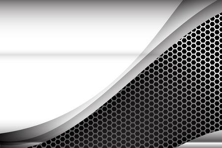 carbon fiber: Acero metalizado y panal elemento de ilustración de fondo textura vector
