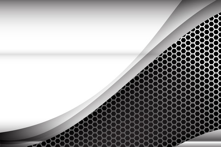 Metallic steel and honeycomb element background texture vector illustration Zdjęcie Seryjne - 38463164